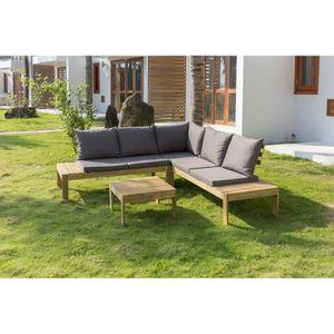 Salon bas de jardin Salon de jardin en bois d'acacia 4 personnes SAYAD