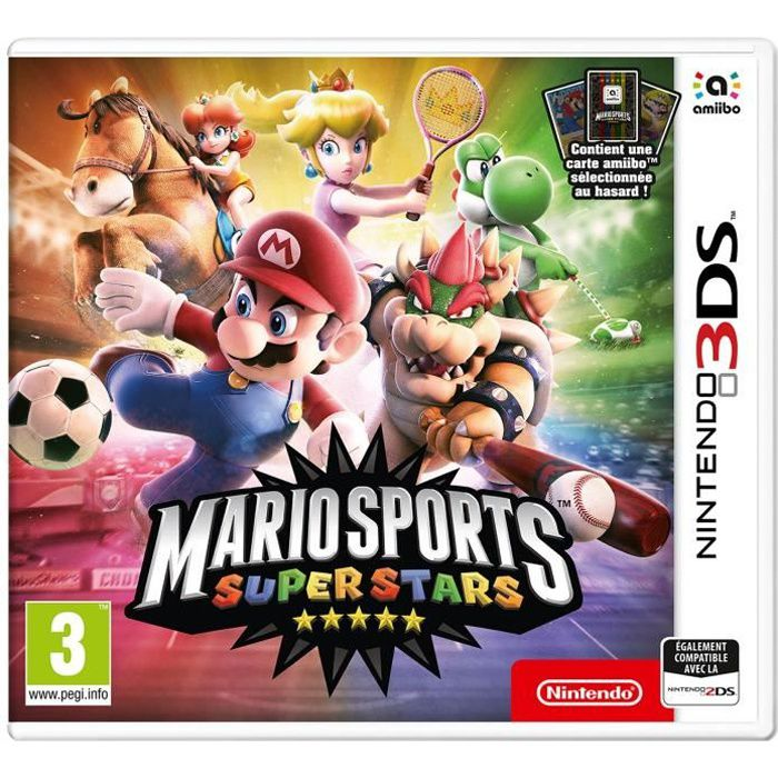 JEU 3DS Mario Sports Superstars Jeu 3DS + 1 Carte Amiibo
