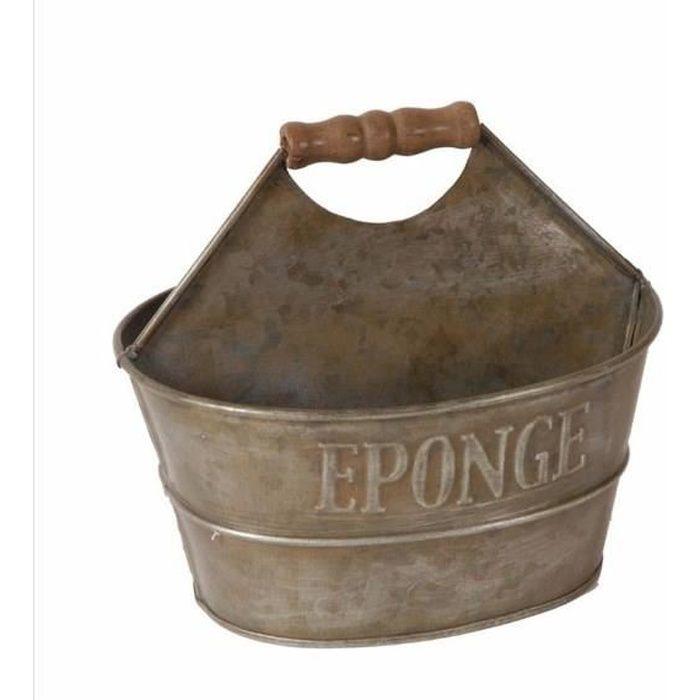 Porte savon/eponge zinc