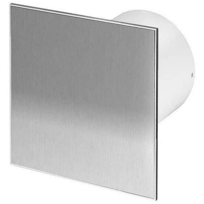 Ventilateur d'extraction de salle de bain 125 mm avec minuterie et panneau avant en acier inoxydable