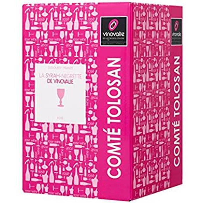 Cubi Rosé 10 L - BIB Vin Rosé Négrette-Syrah 10 litres - IGP Comté Tolosan