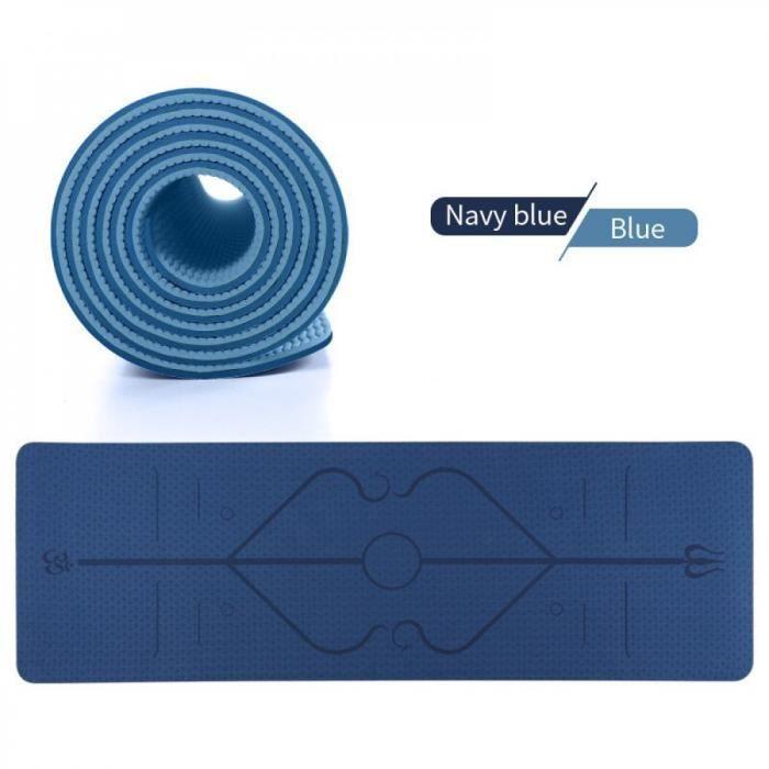 Tapis Yoga TPE tapis Yoga écologique tapis d'exercice et Fitness antidérapant, tapis d'entraînement tous les types Yoga, Pilates et