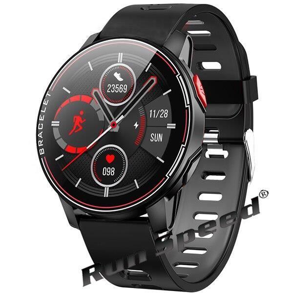 IP68 étanche montre intelligente Sport Fitness Tracker moniteur de fréquence cardiaque horloge intelligente Sport h - Black - WL9507