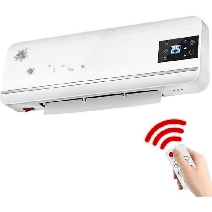 Chauffage Radiateur Domestique pour Salle de Bain Petit radiateur soufflant à économie d'énergie Mural avec télécommande Haute