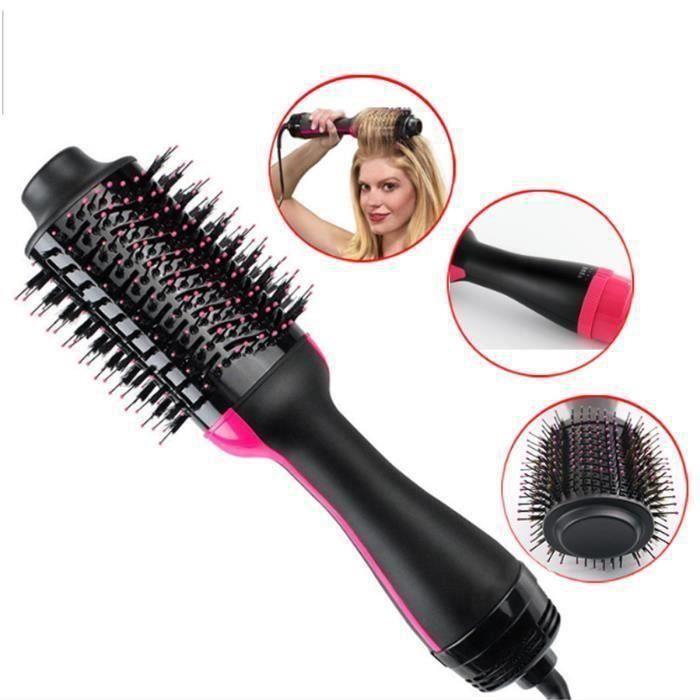 Sèche Cheveux Brosse Electrique et Volumateur Salon Air Chaud Paddle Brosse Cheveux Générateur Ions négatifs Lisser Bigoudi bel2