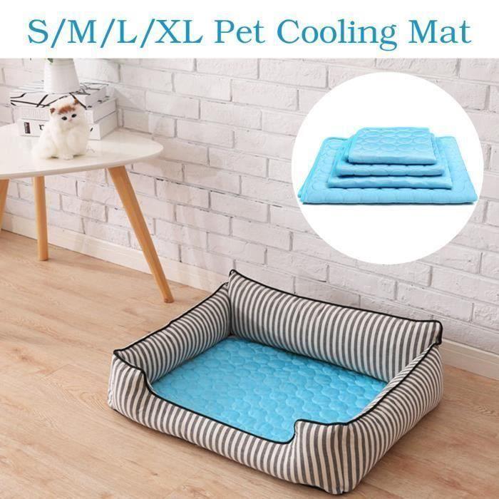 Portable Été Tapis Rafraîchissant Tissu Chien Chat Cool Confort 102X70CM Ve96160