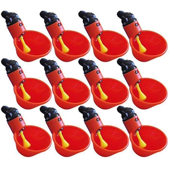Alimenter Automatique Oiseau Coop Volaille Poulet Volaille Buveur D 'eau Potable Tasses 12 Pcs_H1276