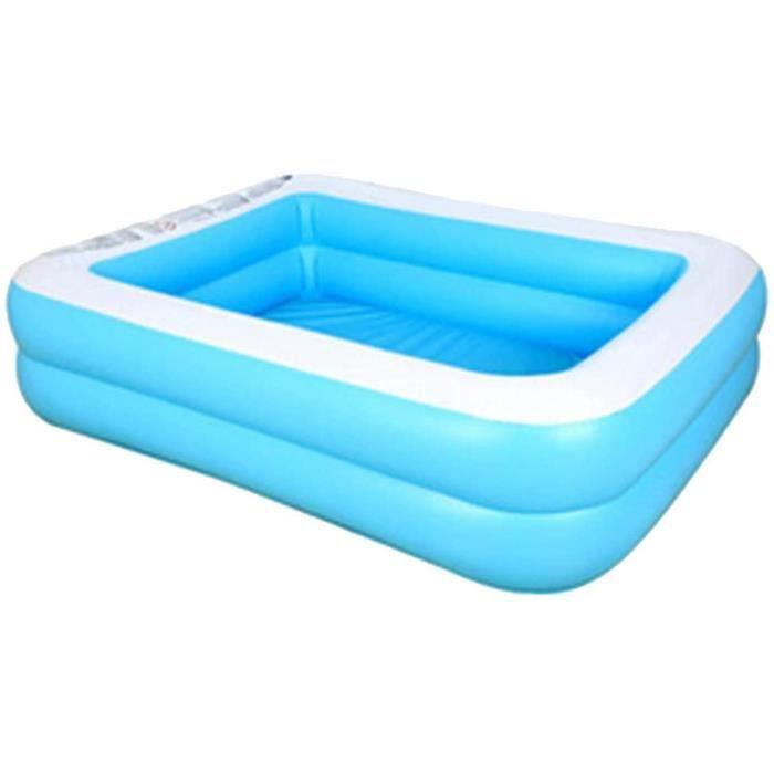 pour Enfants Piscine Arrière-Cour Été Extérieur Simple Réglage Piscine Baignoire Gonflable Baignoire Pliante (Color : Blue, S