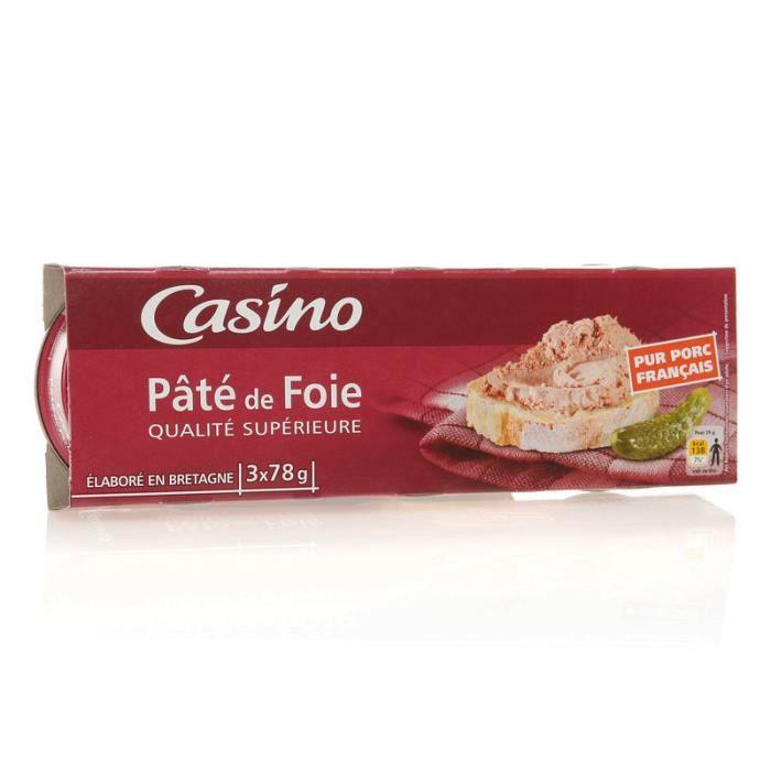 Pâté de foie qualité supérieure - 3x78 g