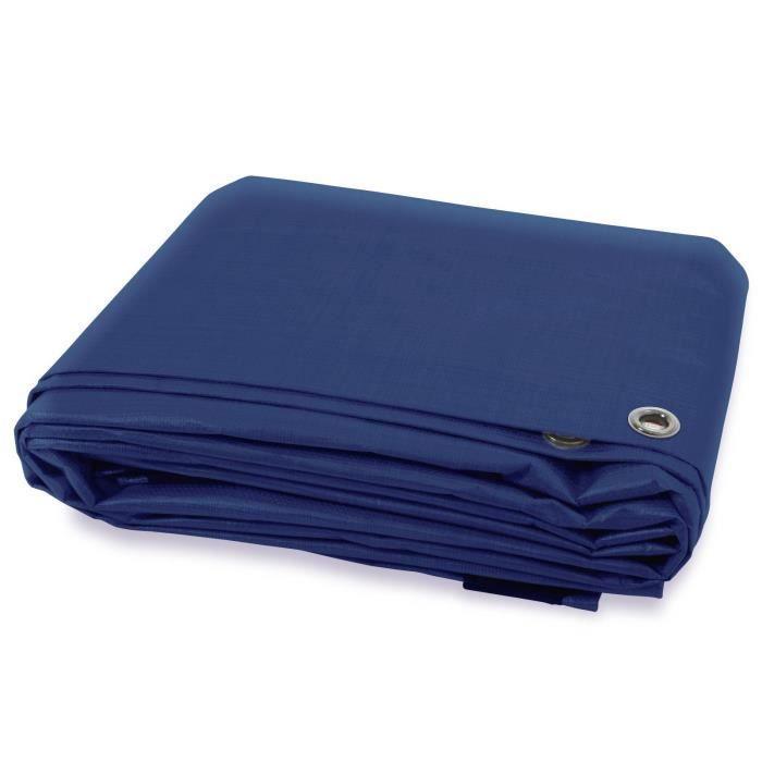 Bache de Protection - Bleu 1.5x6 m - Bache Imperméable avec œillet - Densité 140g Résistante Eau & UV
