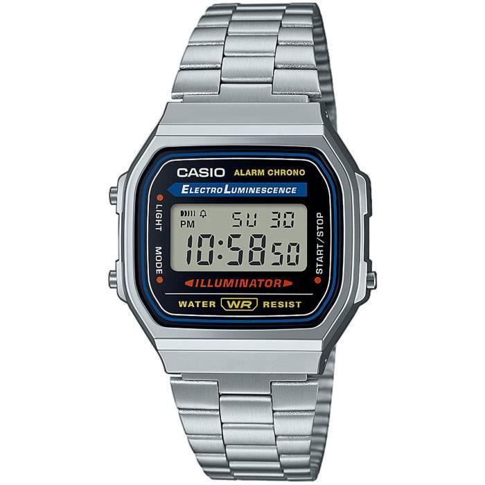 CASIO Montre Quartz Chronographe A168WA1YES Mixte
