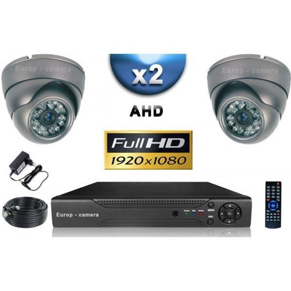 KIT PRO AHD 2 Caméras Dômes IR 35m SONY FULL HD 1080P + Enregistreur DVR AHD FUL