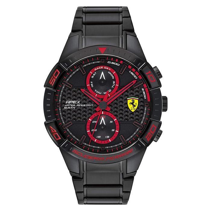 Ferrari-Montre Multi-Cadrans pour Hommes à movement Quartz en Acier inoxydable - 0830635