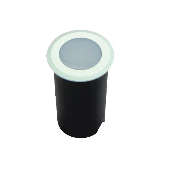 Petit Spot Encastable 1,5W LED tour blanc étanche IP67 - Teinte de lumière:Blanc Chaud (2700K) couleur:Blanc teinte de