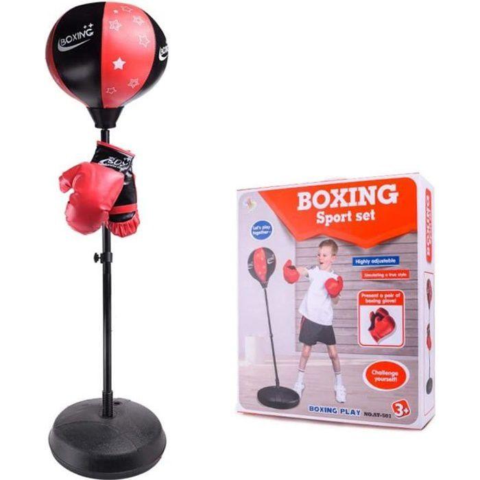 LESHP Boxing Enfant Stand Box Punching Ball Hauteur réglable 72cm ~ 108cm Box Gants inclus