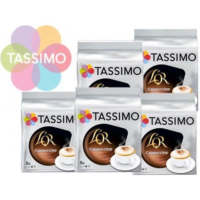 TASSIMO Café Dosettes L'Or Cappuccino - Lot de 5 x 8 boissons
