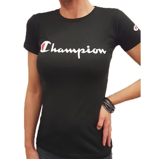 Tee Shirt Champion femme col rond 210972 Noir
