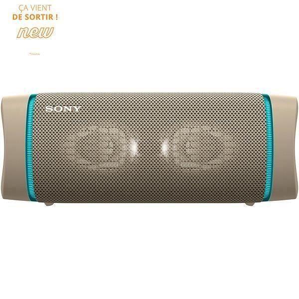 SONY SRSXB33C Enceinte Bluetooth - Autonomie 24h - Splash proof - Gris Sable