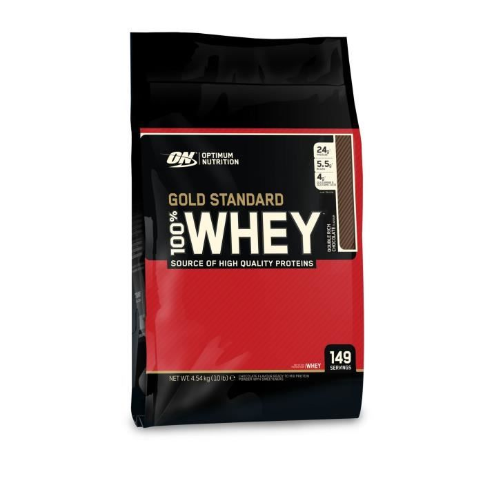 OPTIMUM NUTRITION Pot 100% Whey Gold Standard Chocolat - 4,54 kg