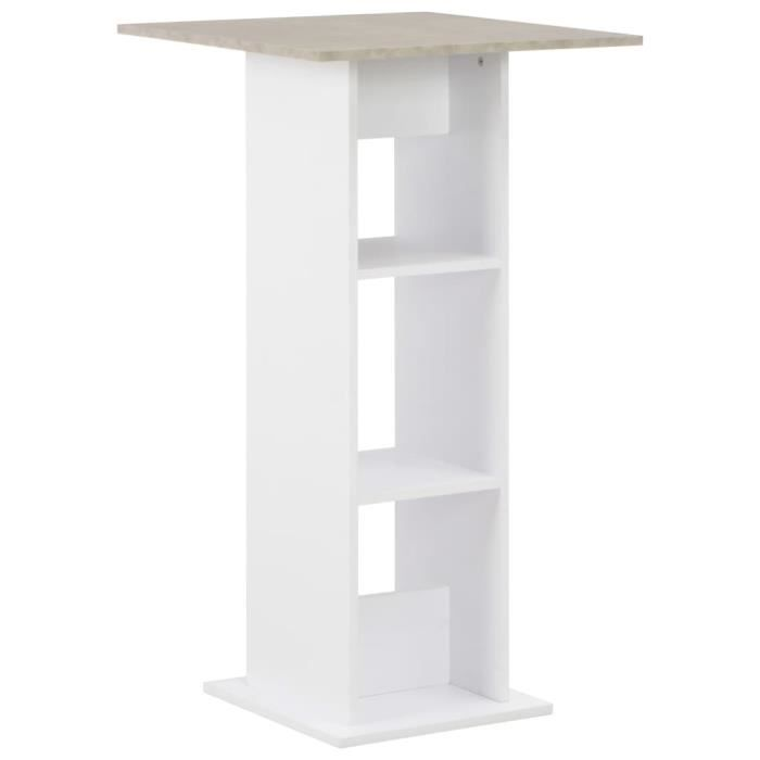 Table haute Table de bar 60x60x110 cm Blanc