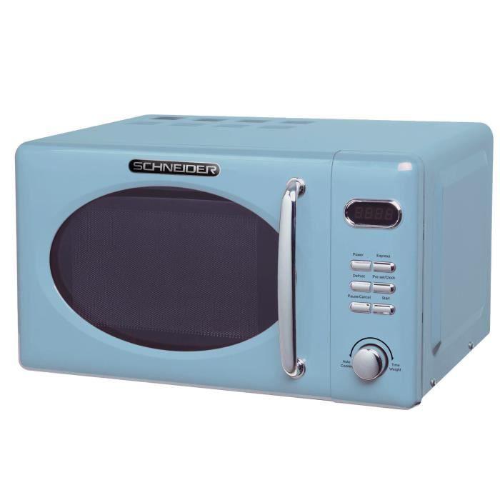 Micro-ondes rétro bleu Schneider MW 720 LB