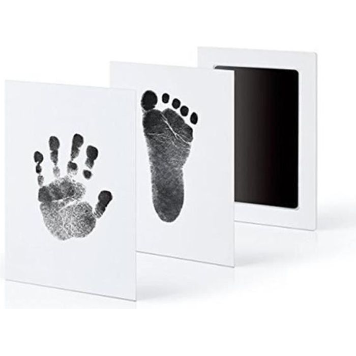 Baby Safe Inkless Touch Footprint Handprint Ink Pad Mess Free Commemorate noir