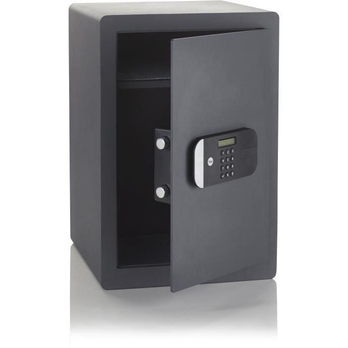 YALE Coffre-fort haute sécurité à serrure électronique (Certifié SKG), format professionnel H.52 x l.35 x P.36 cm (49,8 L)