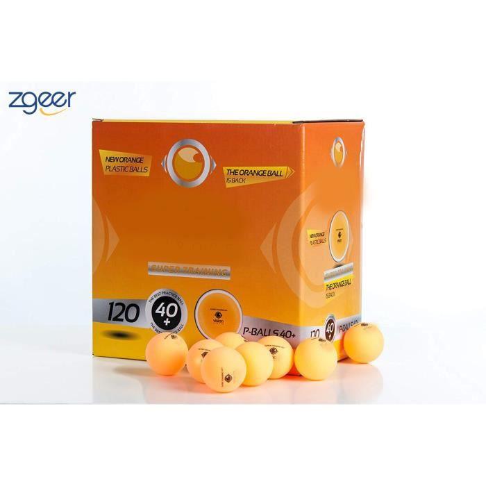 Balles de tennis de table 120 unités, Balles de ping pong 120 unités,Couleur Orange, Plastique
