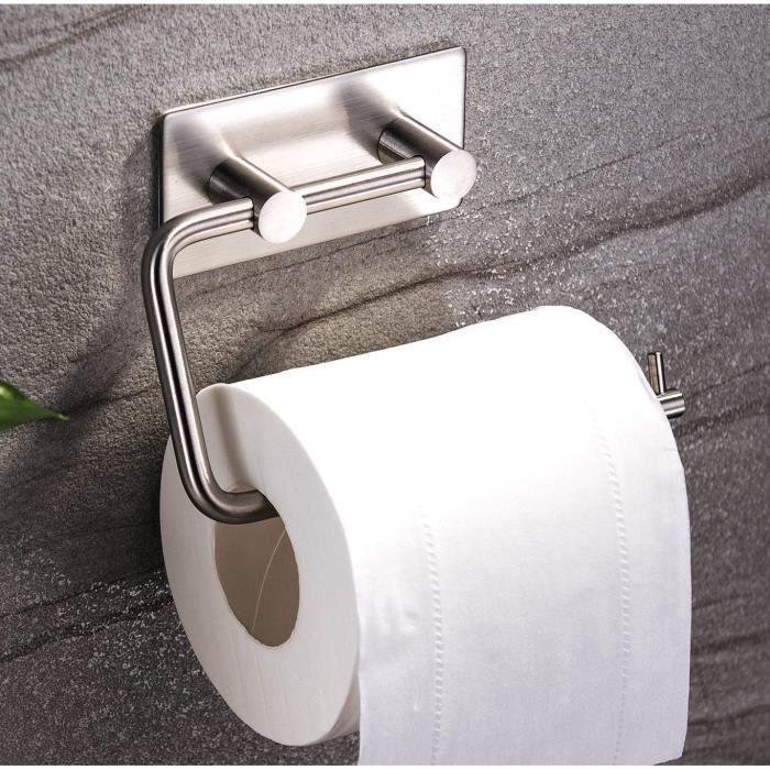 Papier toilette rouleau//salle de bain serviette support auto adhésif 3 m en Acier Inoxydable Brossé