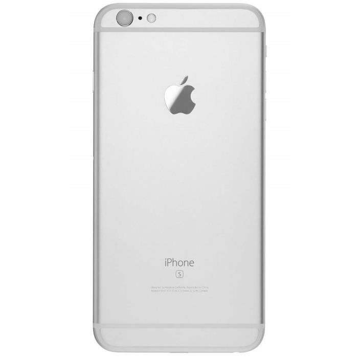 coque arriere chassis argente iphone 6s plus blanc