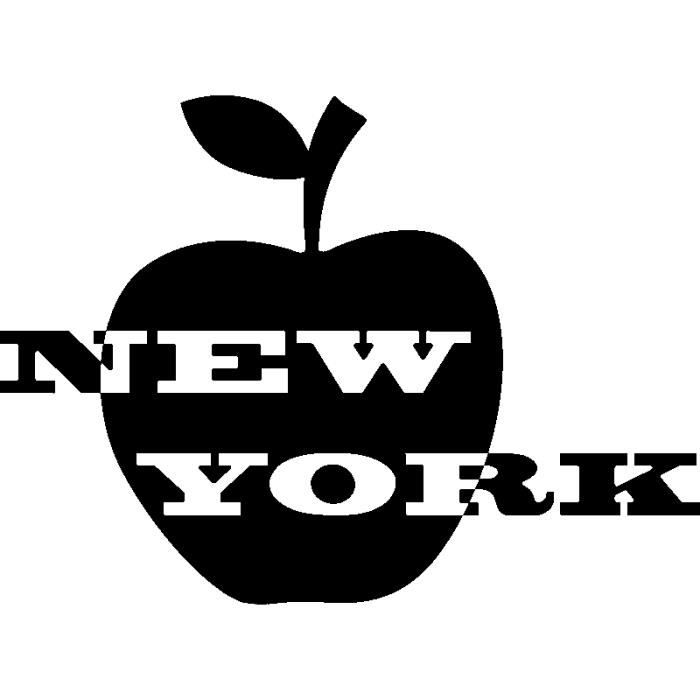 pick and stick sticker mural new york et pomme achat vente stickers cdiscount. Black Bedroom Furniture Sets. Home Design Ideas