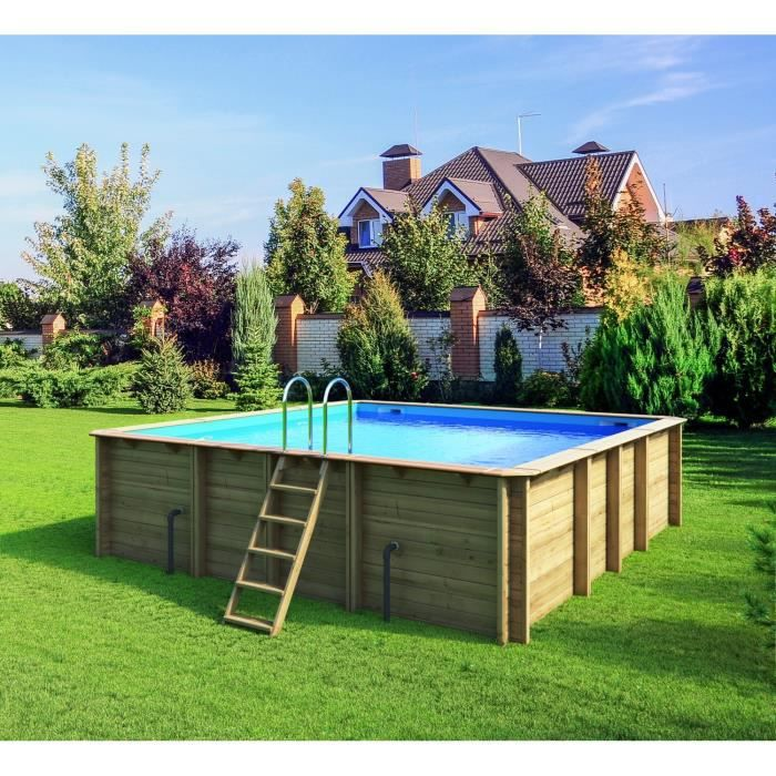 Piscine bois 5x5 for Piscine 5x5