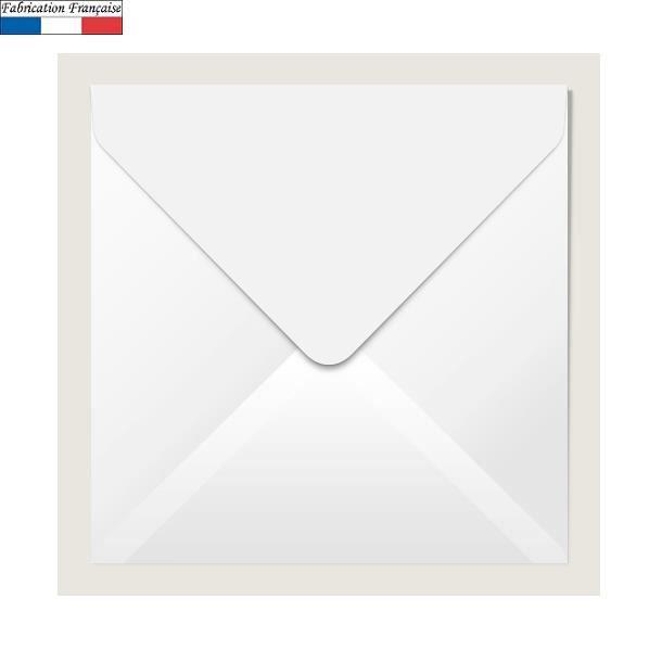 20/enveloppes carr/ées 16/x 16/cm blanc 90/g//m/²