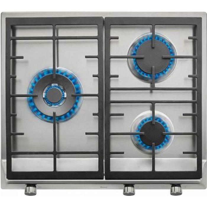PLAQUE GAZ Plaque à gaz noir 60 cm (3 cuisinières) - Plaque d