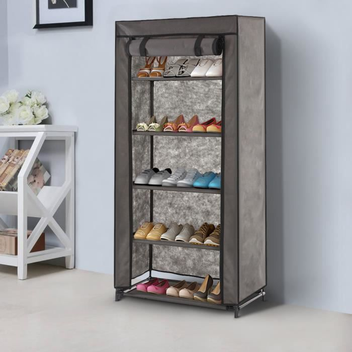 ikayaa meuble chaussures cabinet de rangement avec 5. Black Bedroom Furniture Sets. Home Design Ideas