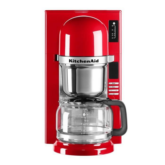 kitchenaid 5kcm0802eer cafeti re filtre programmable rouge empire achat vente cafeti re. Black Bedroom Furniture Sets. Home Design Ideas
