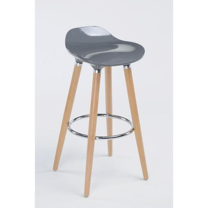 tabouret de bar style scandinave gris achat vente tabouret de bar cdiscount. Black Bedroom Furniture Sets. Home Design Ideas