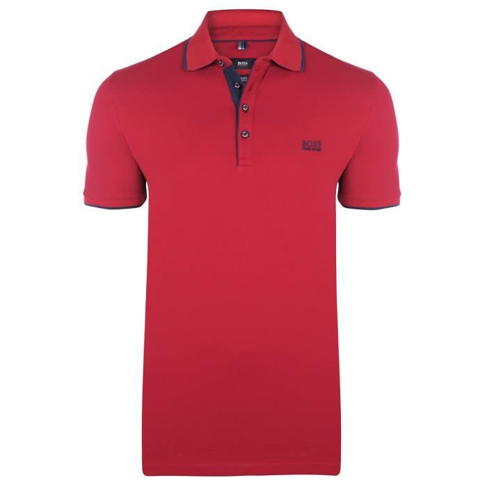 Hugo Boss - Polo homme rouge manche courte
