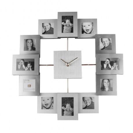 present time cadre photo avec horloge family achat. Black Bedroom Furniture Sets. Home Design Ideas