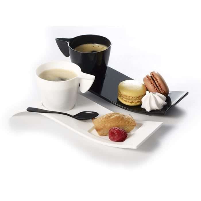8 kits cafe gourmand tasse 10cl et vague noires achat vente service th caf cdiscount. Black Bedroom Furniture Sets. Home Design Ideas
