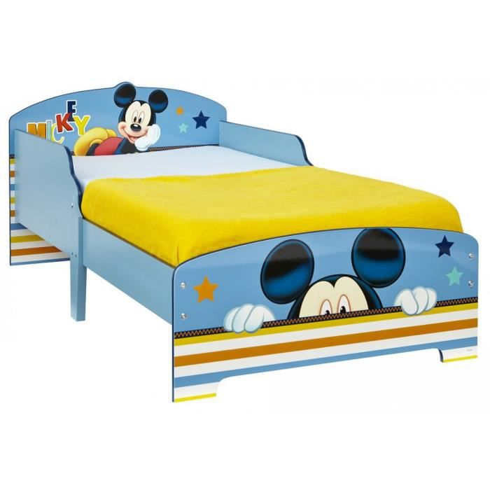 lit enfant mickey 70x140 achat vente structure de lit cdiscount. Black Bedroom Furniture Sets. Home Design Ideas