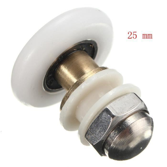 Roulements de porte de douche Métal à poulies pour les coureurs de 25mm diamètre