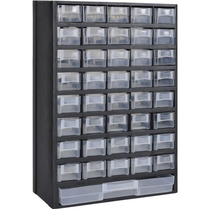 41 tiroirs armoire module de rangement plastique achat. Black Bedroom Furniture Sets. Home Design Ideas