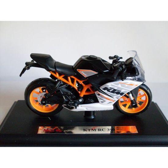 Moto Modèle 1:18 KTM RC 390 noir blanc orange de Maisto