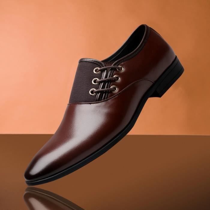 IZTPSERG Cuir Homme mocassin chaussures busines... dktJ5Ic