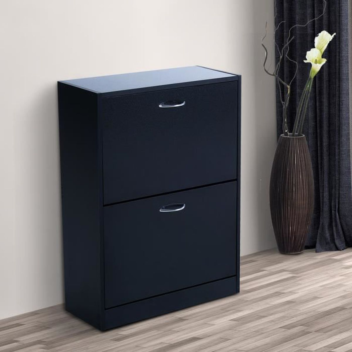homcom meuble armoire chaussure design el gant 2. Black Bedroom Furniture Sets. Home Design Ideas