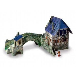 FIGURINE - PERSONNAGE Figurine Miniature Pont avec des figures P6OT9