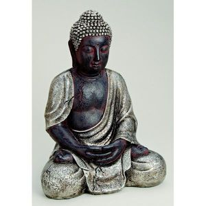 gros bouddha assis en r sine achat vente statue statuette cdiscount. Black Bedroom Furniture Sets. Home Design Ideas
