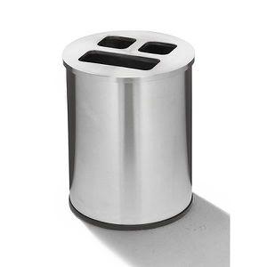 POUBELLE - CORBEILLE Poste de recyclage - inox capacité 40 l - Collecte