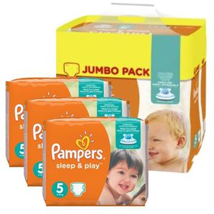 COUCHE Giga Pack 348 Couches Pampers Sleep & Play taille
